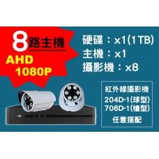 8路主機AHD1080P