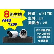 8路主機AHD720P