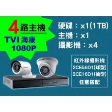 4路海康主機TVI 1080P