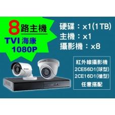 8路海康主機TVI 1080P